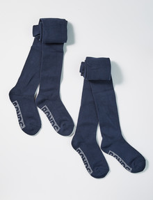 Bonds Logo Tights, Navy, 2-Pack product photo