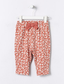 Teeny Weeny Jacquard Animal Jogger Pant, Terracotta product photo