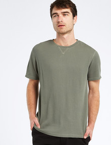 Tarnish Short-Sleeve Waffle Tee, Khaki product photo