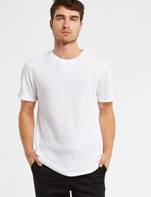 Tarnish Short-Sleeve Waffle Tee, White product photo