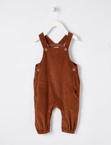 Little Bundle Cord Overall, Rust product photo