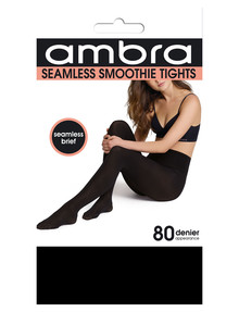 Ambra Seamless Smoothie Tight, 80 Denier, Black product photo