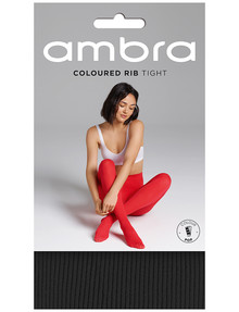 Ambra Totally Colour Rib Tight, Black product photo