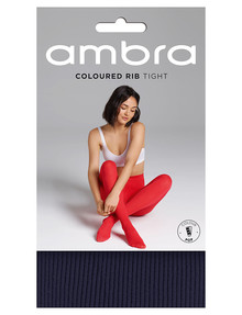 Ambra Totally Colour Rib Tight, Evening Blue product photo
