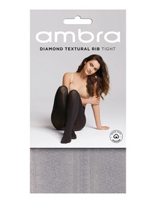 Ambra Cotton Diamond Rib Tight, Light Grey product photo