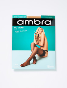Ambra Stay Up No Show 15 Denier, Natural product photo