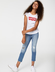 Levis High Rise Ankle Straight Jeans, Pyramids product photo