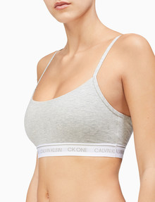 Calvin Klein Cotton Unlined Bralette, Grey Heather product photo