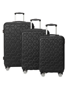American Explorer 3-Piece Luggage Set, Black product photo