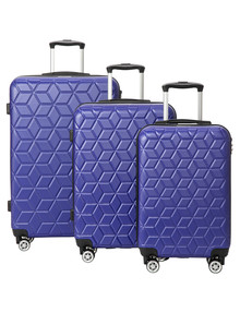American Explorer 3-Piece Luggage Set, Blue product photo
