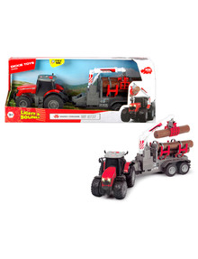 Dickie Light & Sound Massey Ferguson Tractor & Trailer, 42cm product photo