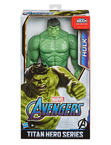 """Avengers Titan Hero Series Blast Gear Deluxe Hulk Action Figure, 12-"""" Toy, Inspired By Marvel Comics product photo"""