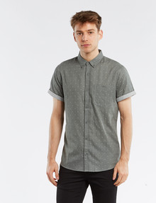 Tarnish Double Layer Dot Shirt, Khaki product photo