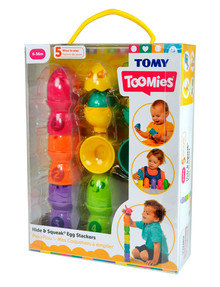 Tomy Hide & Squeak, Egg Stackers product photo
