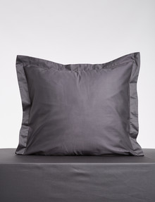 Kate Reed Lucy European Pillowcase, Charcoal product photo