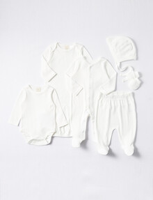 Little Bundle Going Home 6-Piece Set, Vanilla product photo