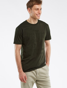 Tarnish NYC Embossed Print Tee, Khaki Marle product photo