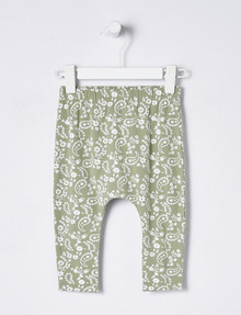 Teeny Weeny Mix & Match Floral Print Harem Legging, Light Khaki product photo