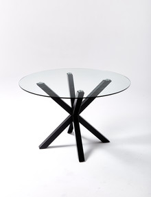 Luca Zuri Dining Table 1.2m, Black product photo
