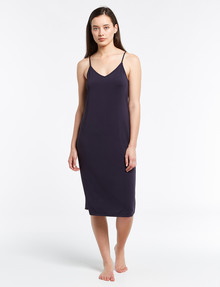 Lyric Microfibre Full Slip, Long Length, Navy product photo