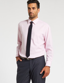 Van Heusen Textured Long-Sleeve Classic Fit Shirt, Pink product photo