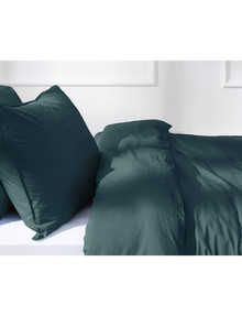 Haven Home 250 Thread Count Vintage Wash Duvet Cover Set, Teal product photo