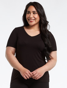 Bodycode Curve Short-Sleeve Slimeline Top, Black product photo