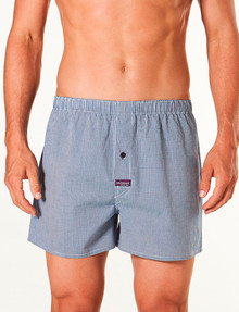 Mitch Dowd Simple Gingham Yarn Dyed Boxer Short, Navy & White product photo