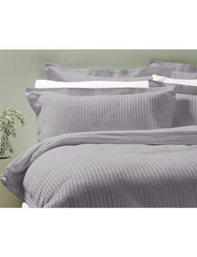 Kate Reed Waffle Duvet Cover Set, Grey product photo