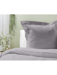 Kate Reed Waffle European Pillowcase, Grey product photo