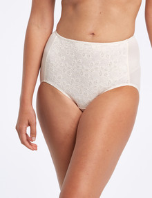 Jockey Woman NPLP No Ride Up Lace Full Brief, Cream product photo