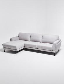 LUCA Hendrix III 2.5 Seater Sofa with Left-Hand Chaise, Silver product photo