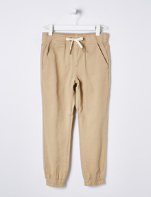 Mac & Ellie Surf Drill Jogger Pant, Washed-Sand product photo