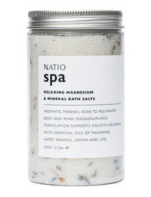 Natio Spa Relaxing Magnesium & Mineral Bath Salts, 350g product photo