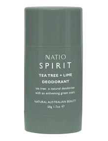 Natio Spirit Tea Tree & Lime Deodorant, 50g product photo