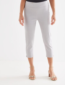 Ella J Crop Classic Bengaline Pant, Stone product photo