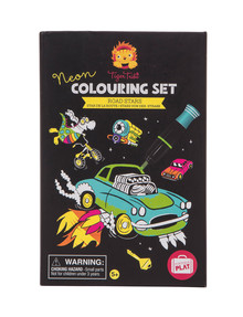 Tiger Tribe Neon Colouring Set, Road Stars product photo