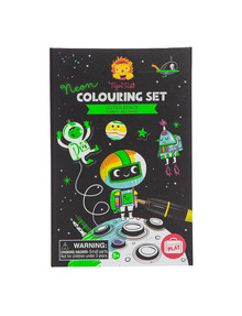 Tiger Tribe Neon Colouring Set, Outer Space product photo