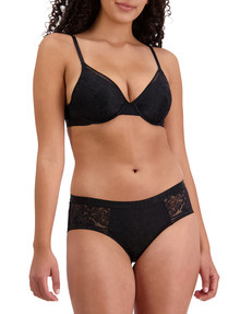 Bendon Tara Full Coverage Bra, Black, B-DD product photo