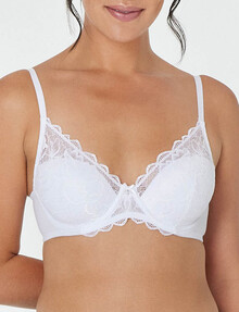 Bendon Embrace Full Coverage Bra, White, B-DD product photo
