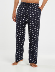 Mazzoni Printed Woven Lounge Pants, Navy product photo