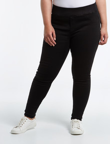 Denim Republic Curve Skinny Pull-On Ultra Stretch Jean, Black product photo