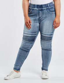 Denim Republic Curve Skinny Pull-On Ultra Stretch Jean, Blue product photo