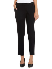 Oliver Black Two-Way Stretch Tapered Pant, Longer-Length, Black product photo