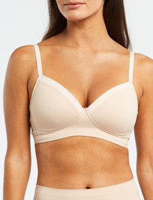 Lyric Post Surgery Wirefree Soft Contour Bra, A-D, Nude/Blush product photo