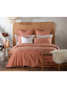 Domani Trieste Duvet Cover, Peach Amber product photo