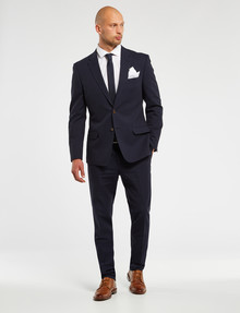 Laidlaw + Leeds Tailored Linen Blend Jacket, Navy product photo