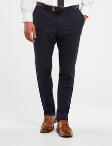 Laidlaw + Leeds Tailored Linen Blend Pant, Navy product photo