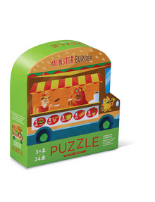 Crocodile Creek Two Sided Puzzle, Monster Burger Food Truck, 24-Piece product photo