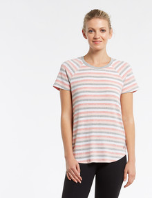 Superfit Block Stripe Tee, Pink product photo